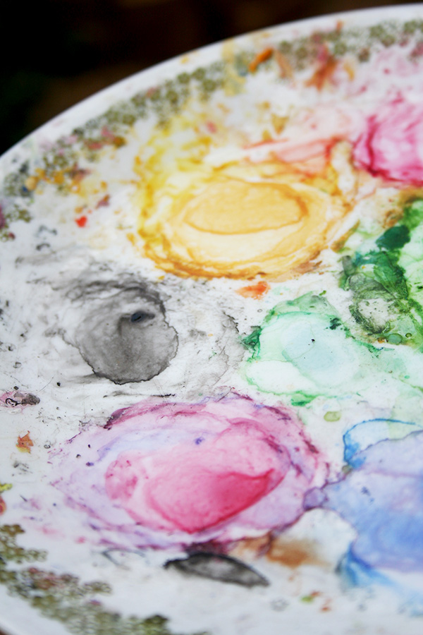 Palette for Watercolor Paint Mixing