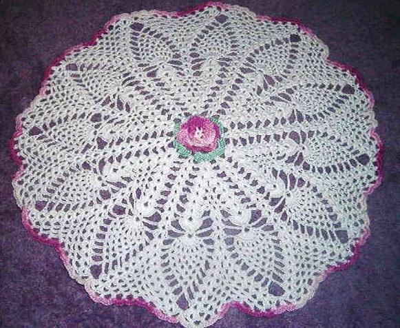 Pineapple Crochet Doily
