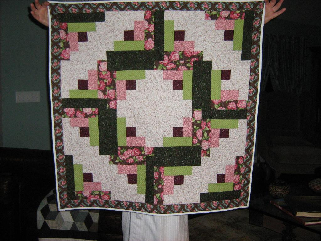 pieced rose quilt