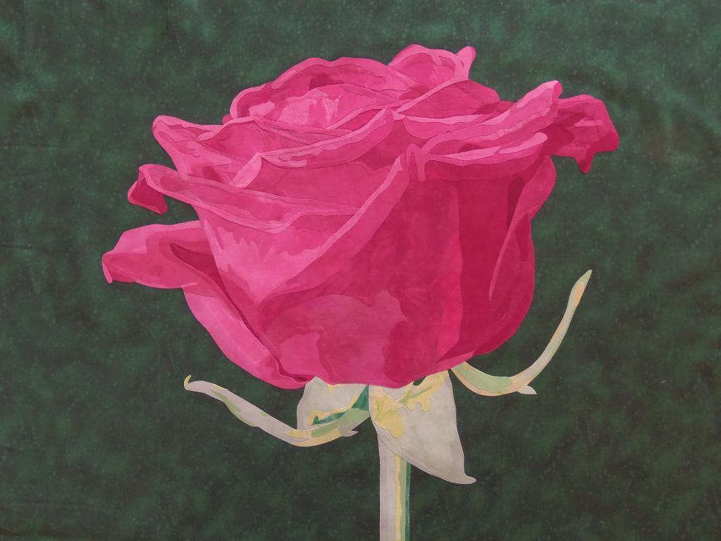 fusible rose applique