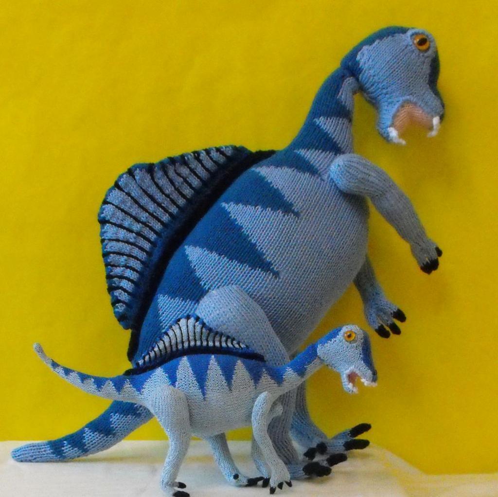 Spinosaurus Dinosaur Knitting Pattern