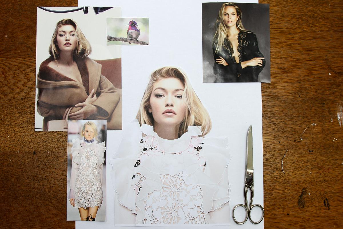 Cutting Magazine Images