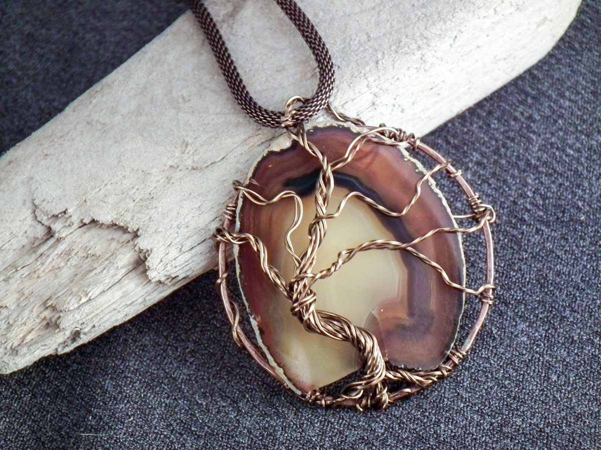 Wire-Wrapped Tree of Life Pendant by Bluprint user Gayle Bird