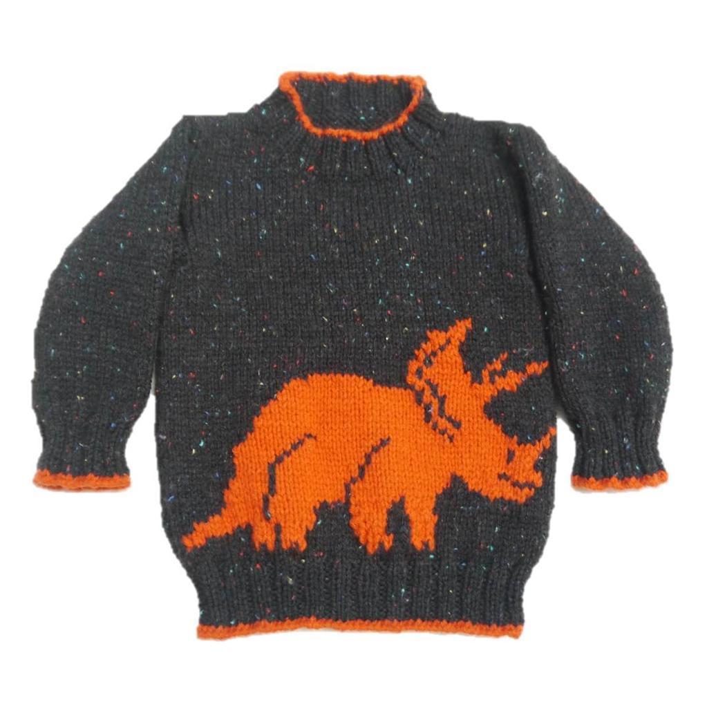 Triceratops Dinosaur Knitting Pattern