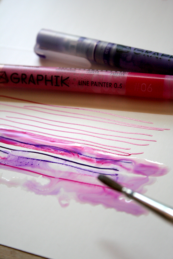 Make a wash with water soluble paint pen