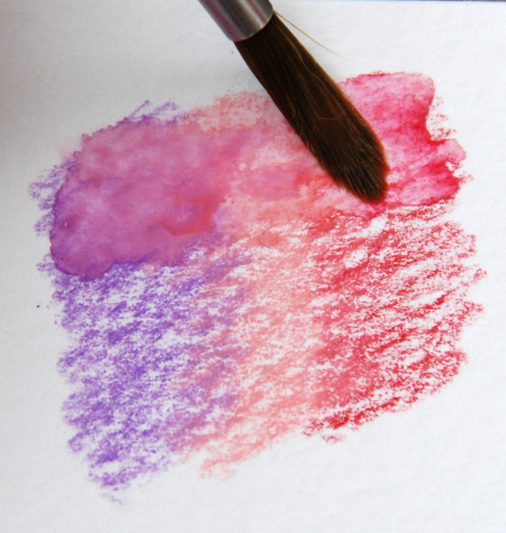 watercolor pencils blending