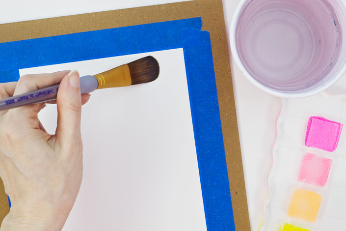 How to Watercolor with Pigment Ink, Step 3