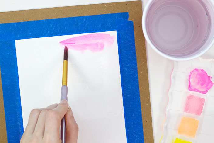 How to Watercolor with Pigment Ink, Step 4