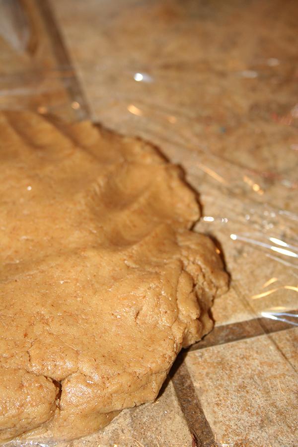 Dough in plastic