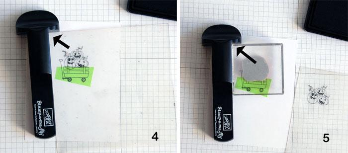 SAMJ Steps 4 and 5: Align pumpkins; stamp onto card stock