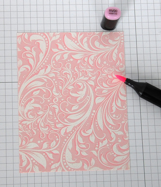 Add shadow to flourish edges using Copic marker