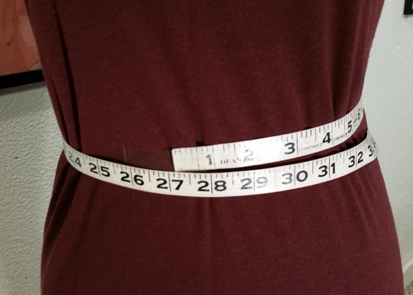 Measuring the waist