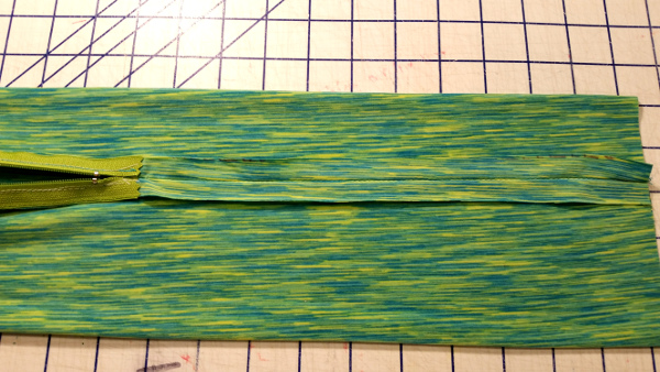 seams stitched and pressed open