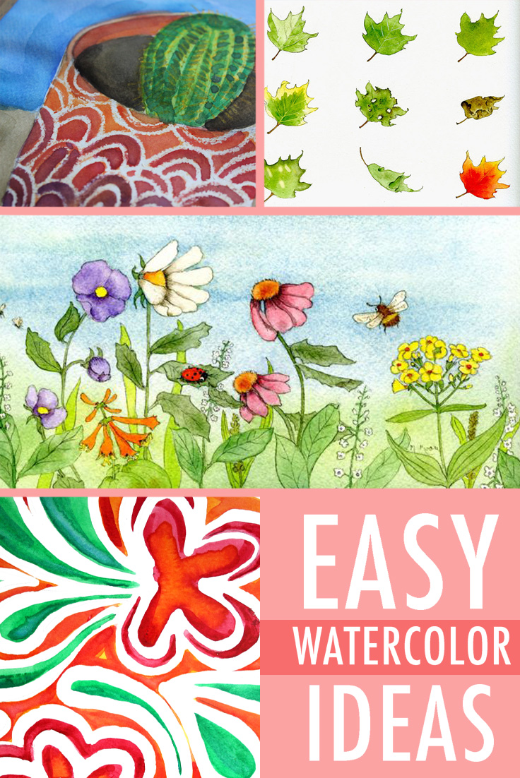 Discover 6 easy watercolor ideas on Bluprint!