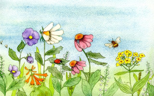 Garden Watercolor Painting — get the tutorial on Craftsy!