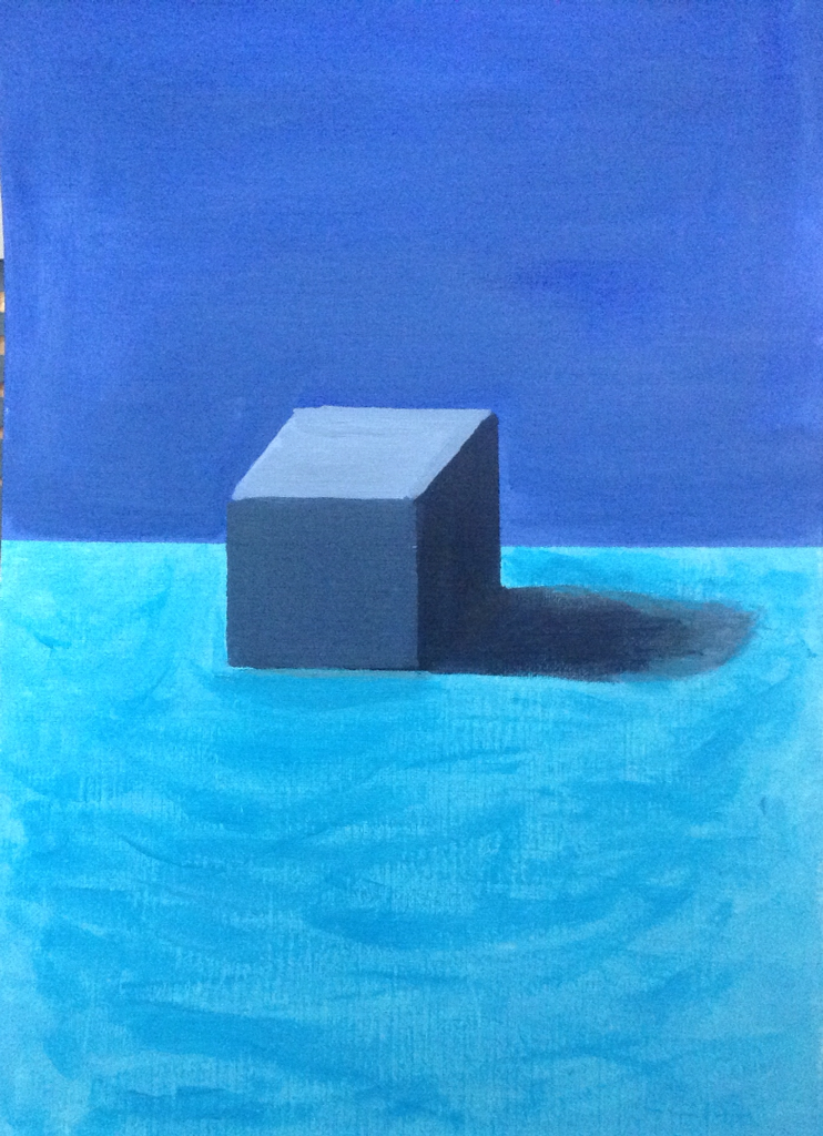 Cube in acrylic