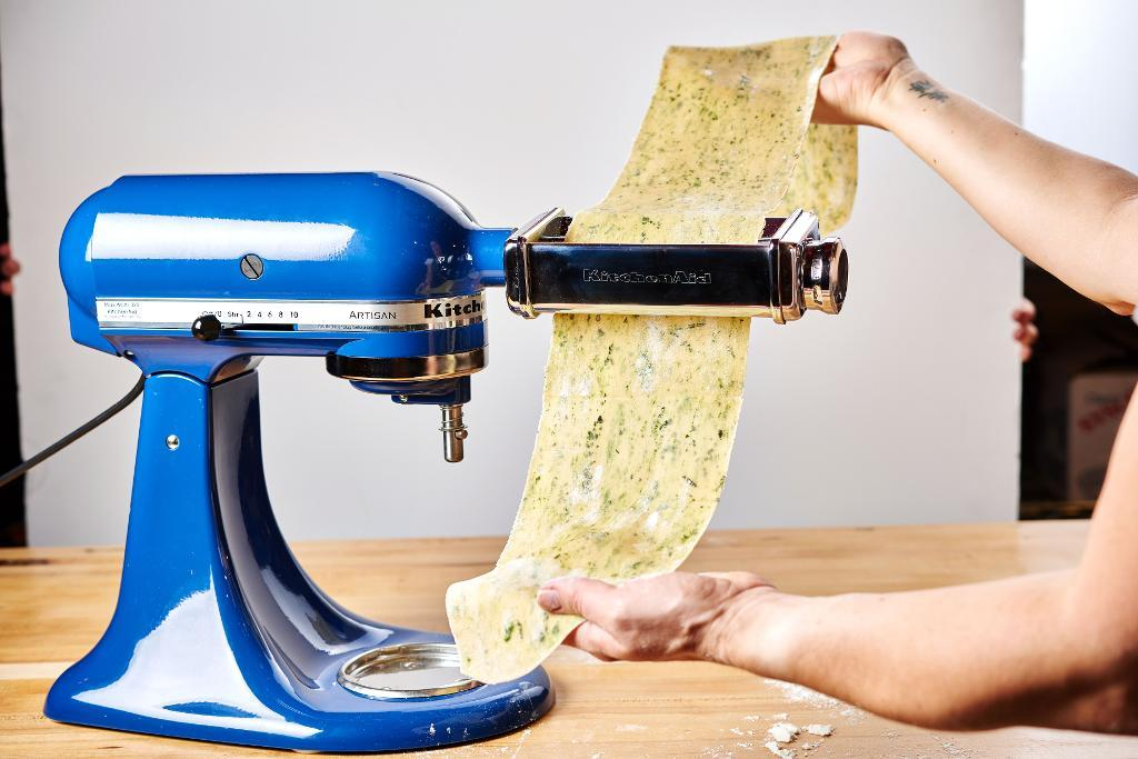 Pasta in stand mixer