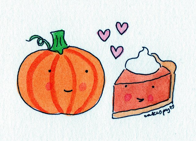 Pumpkin and pie