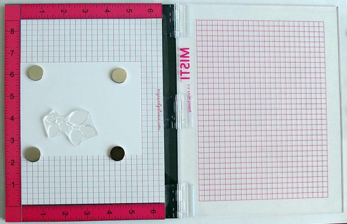 MISTI Step 1: Position stamp on card stock