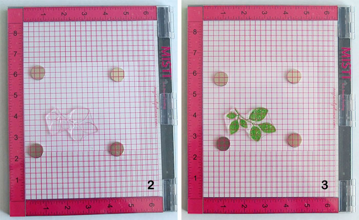 MISTI Steps 2 and 3: Close cover to transfer stamp, ink and close