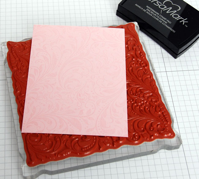 Photo of watermark design on card stock