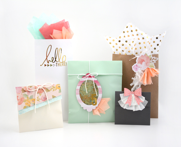 5 envelopes to gift bags