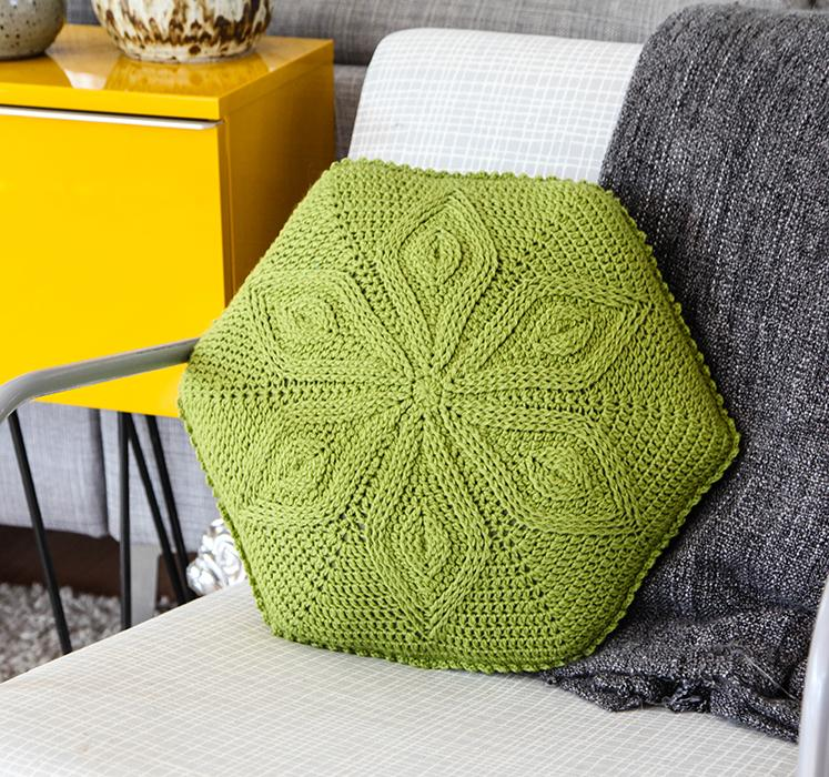 Hexagon Flower Pillow Crochet Kit
