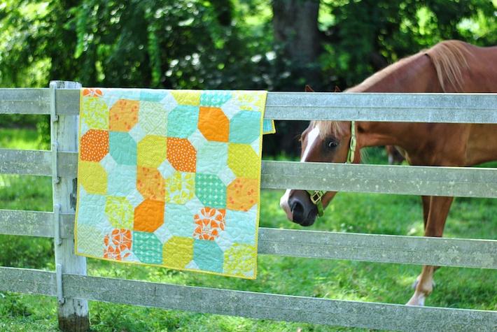 Citrus + Mint Free Baby Quilt Pattern
