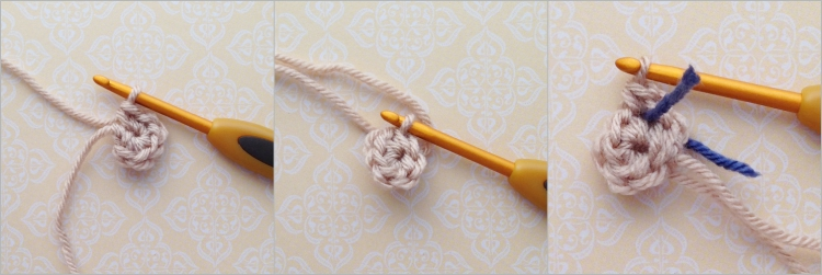 Crochet a flat circle using amigurumi first step
