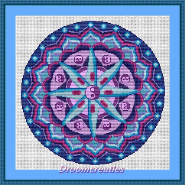 Cross stitch pattern mandala Planula