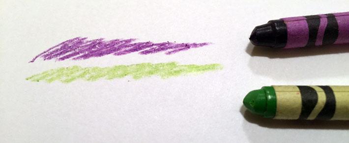 Two-color crayon palette