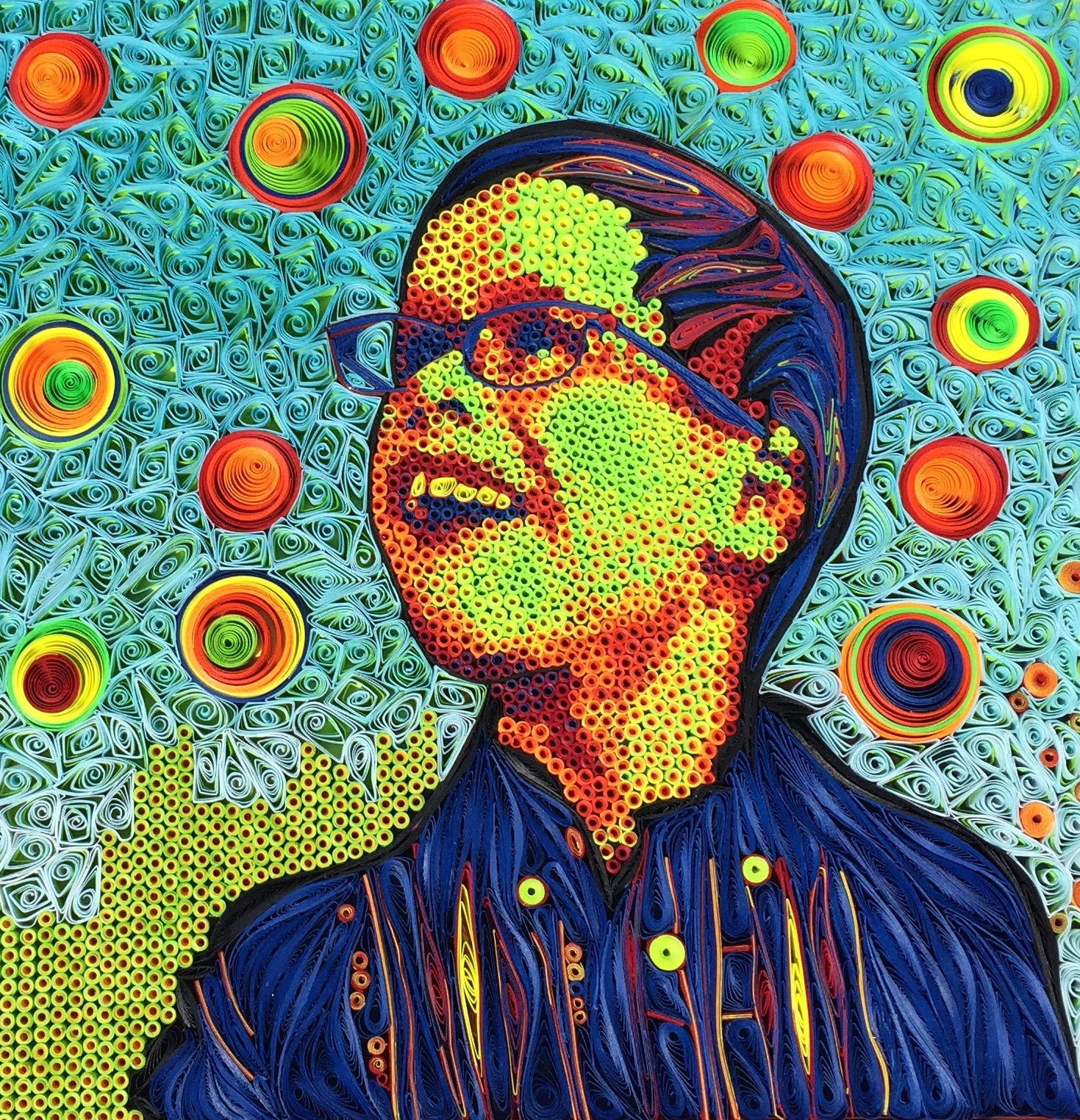 quilled mosaic portrait