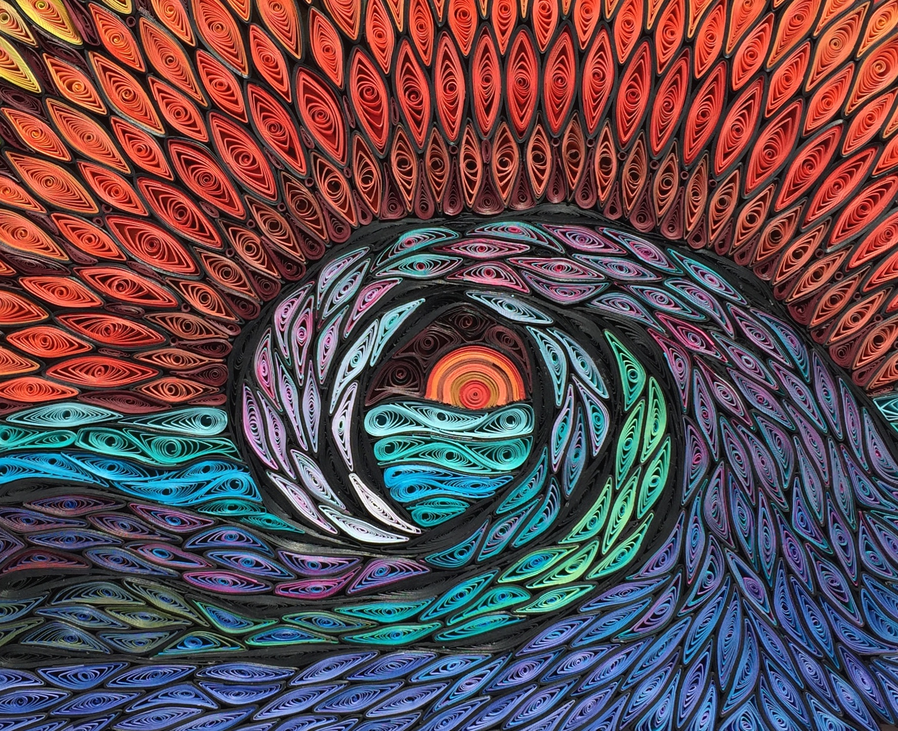 quilled waves mosaic