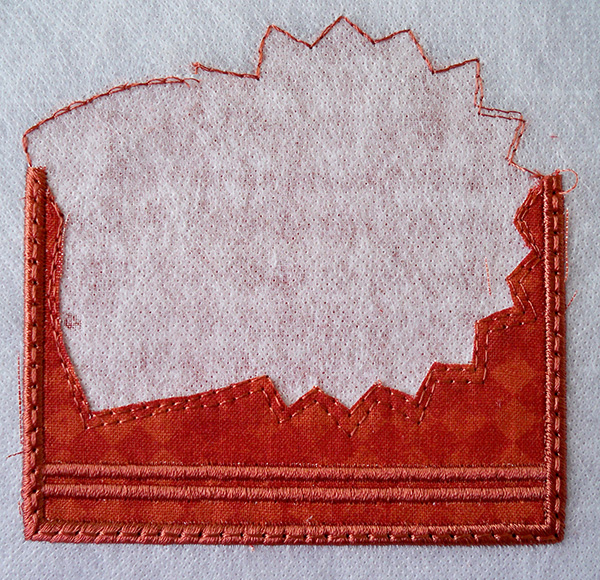 ITH magnet base satin stitches