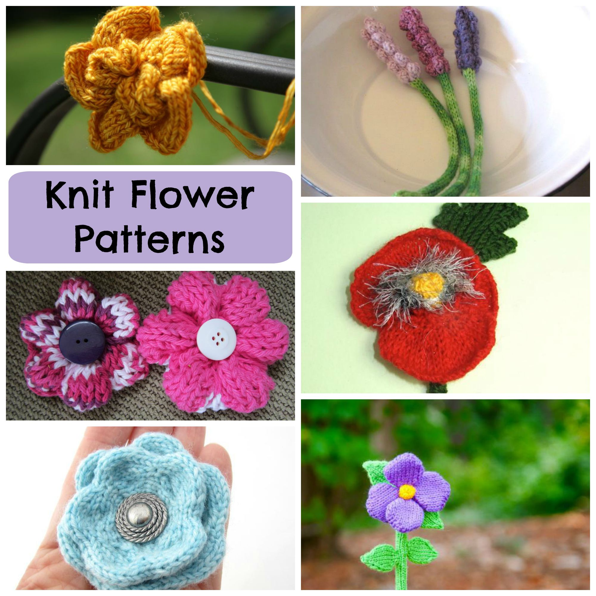 Knit Flower Patterns