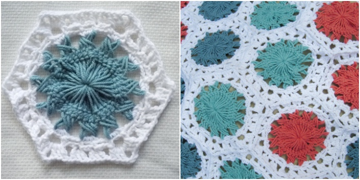 Learn how to make hairpin lace and use it to construct a hexagon blanket