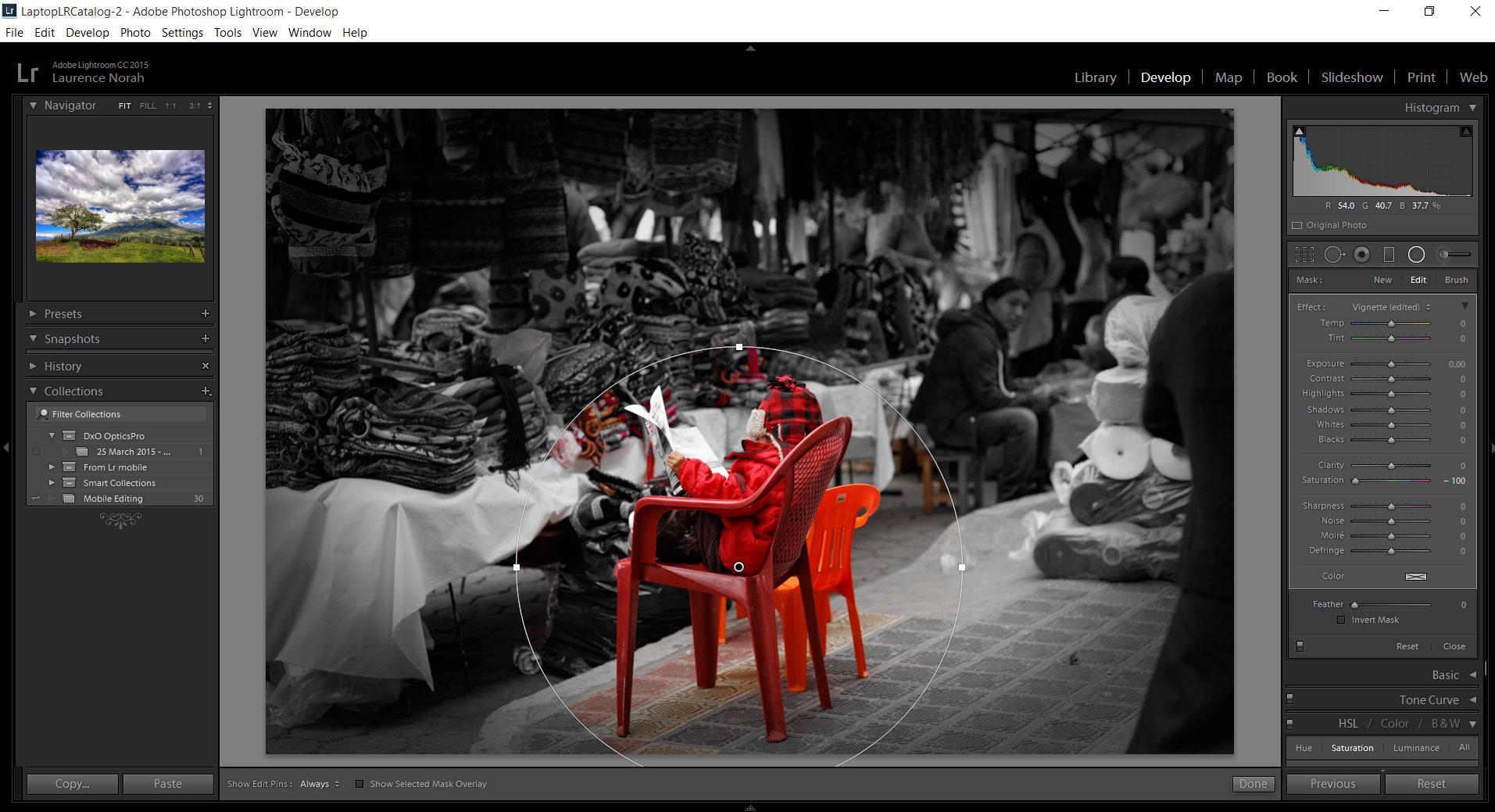 Lightroom spot coloring boy in market 3jpg