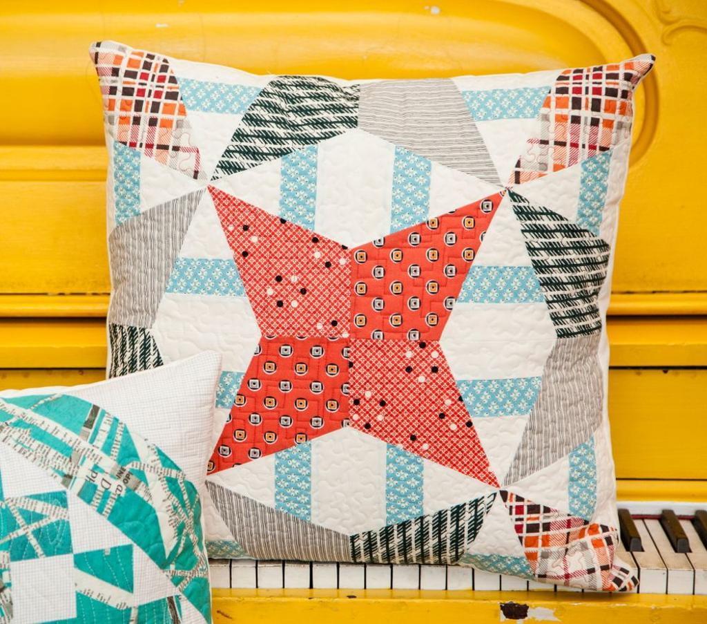 Mod Kaleidoscope Pillow via Elizabeth Dackson