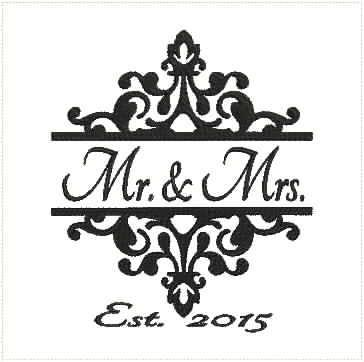 Mr. & Mrs. embroidery