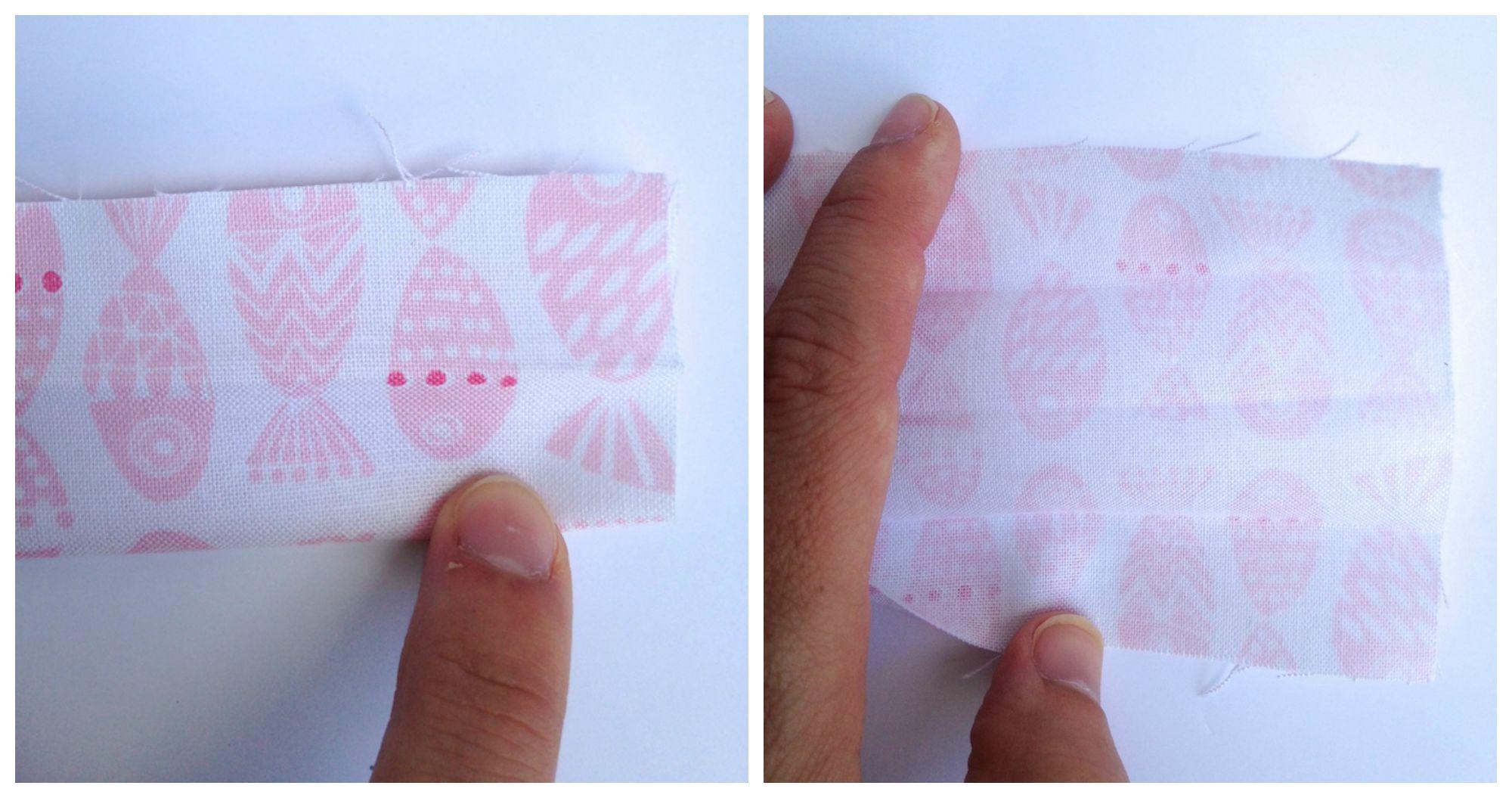 make a 4-fold strap