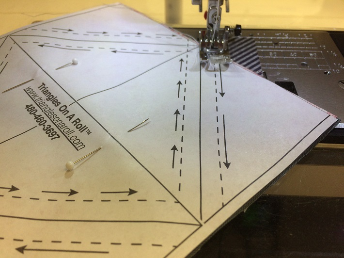 Sewing Triangles on a Roll
