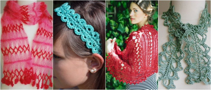 Some of the beautiful items you can make if you learn how to make hairpin lace
