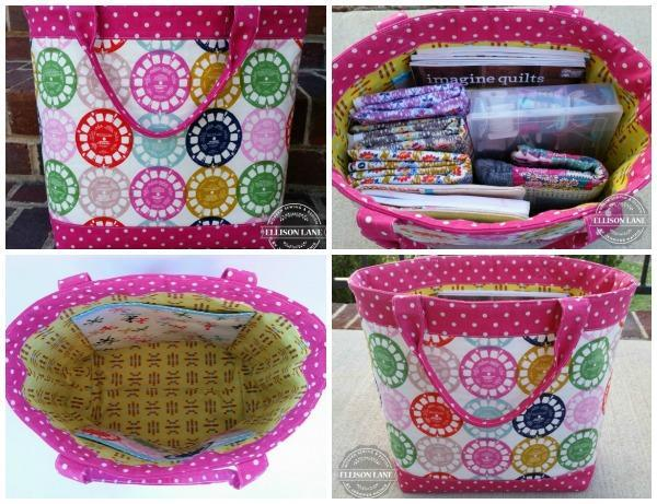 Travel tote for quilters
