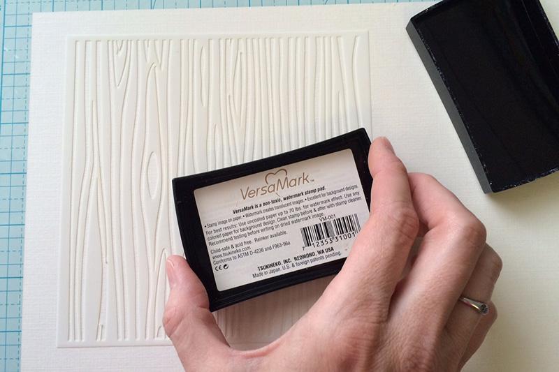 VersaMark Ink for Stamped Backgrounds