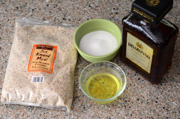 Almond Macaroon Ingredients