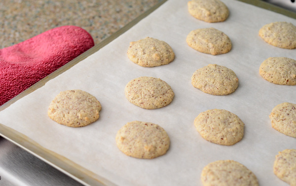 Almond Macaroons, fresh out of the oven.