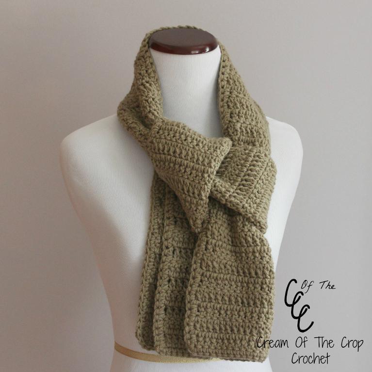 beginner crochet scarf pattern