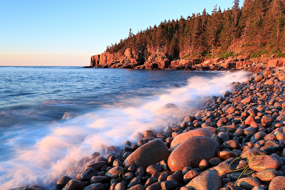 Boulder Beach jpg image with landscape picture style applied in camera.