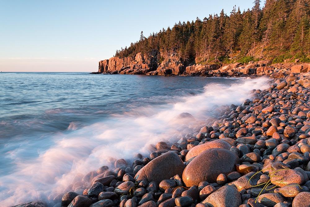 Boulder Beach, Acadia National Park Unprocessed RAW file.