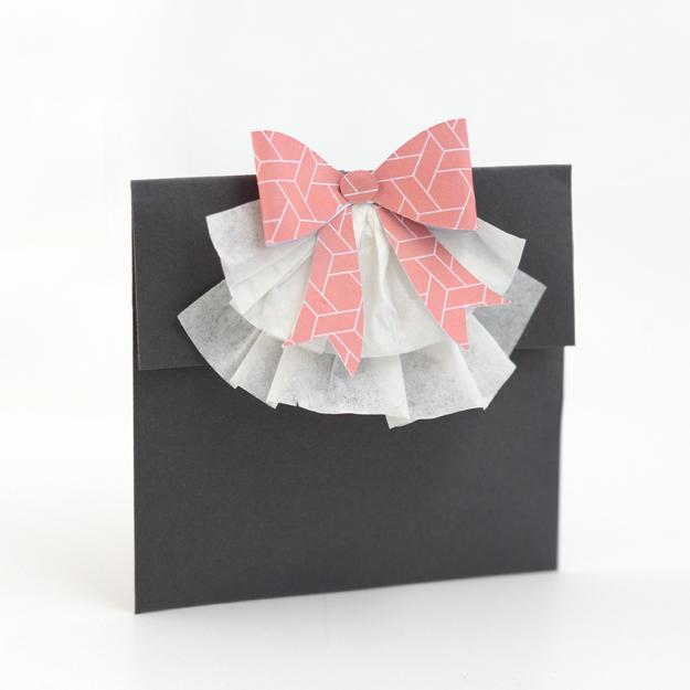 bow envelope bag